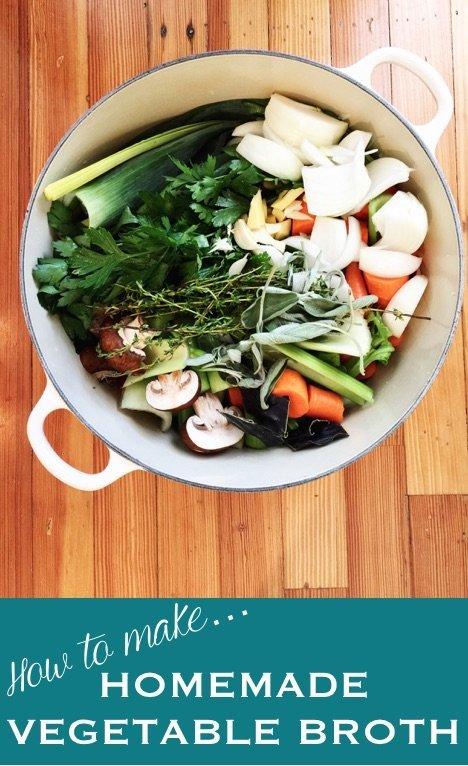 how to make homemade vegetable broth