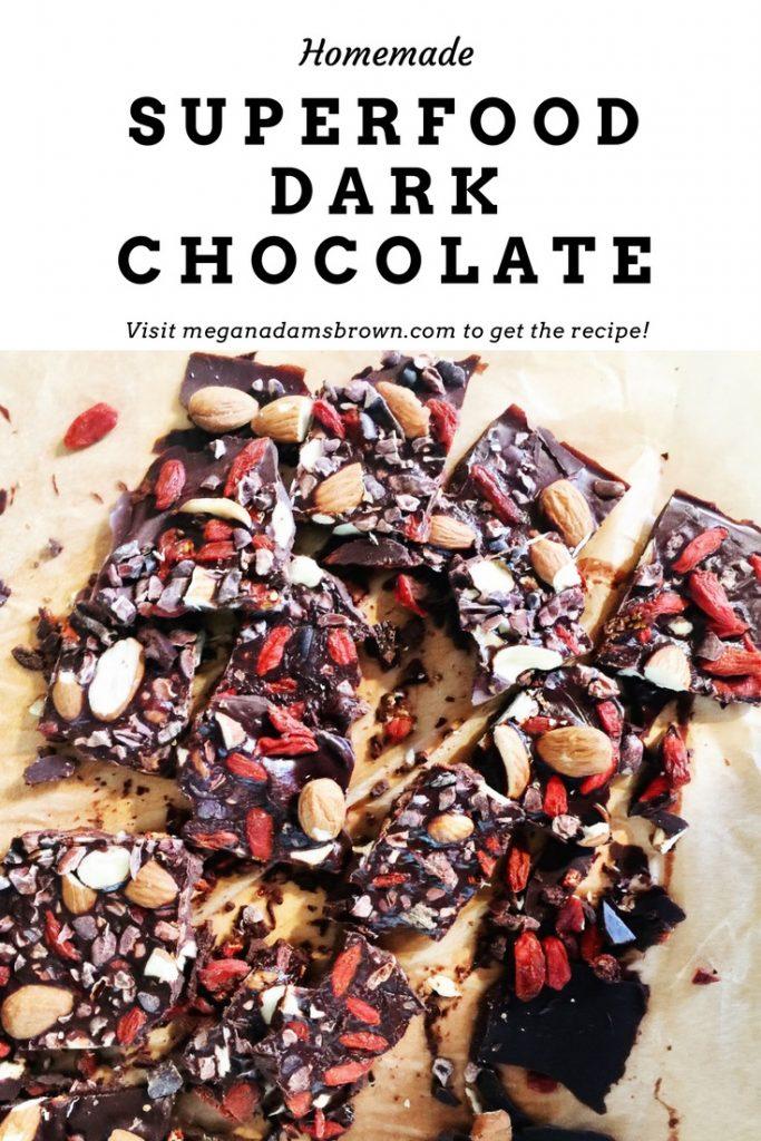 homemade superfood dark chocolate