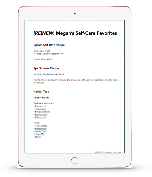 RENEW_Megan's Self-Care Favorites preview