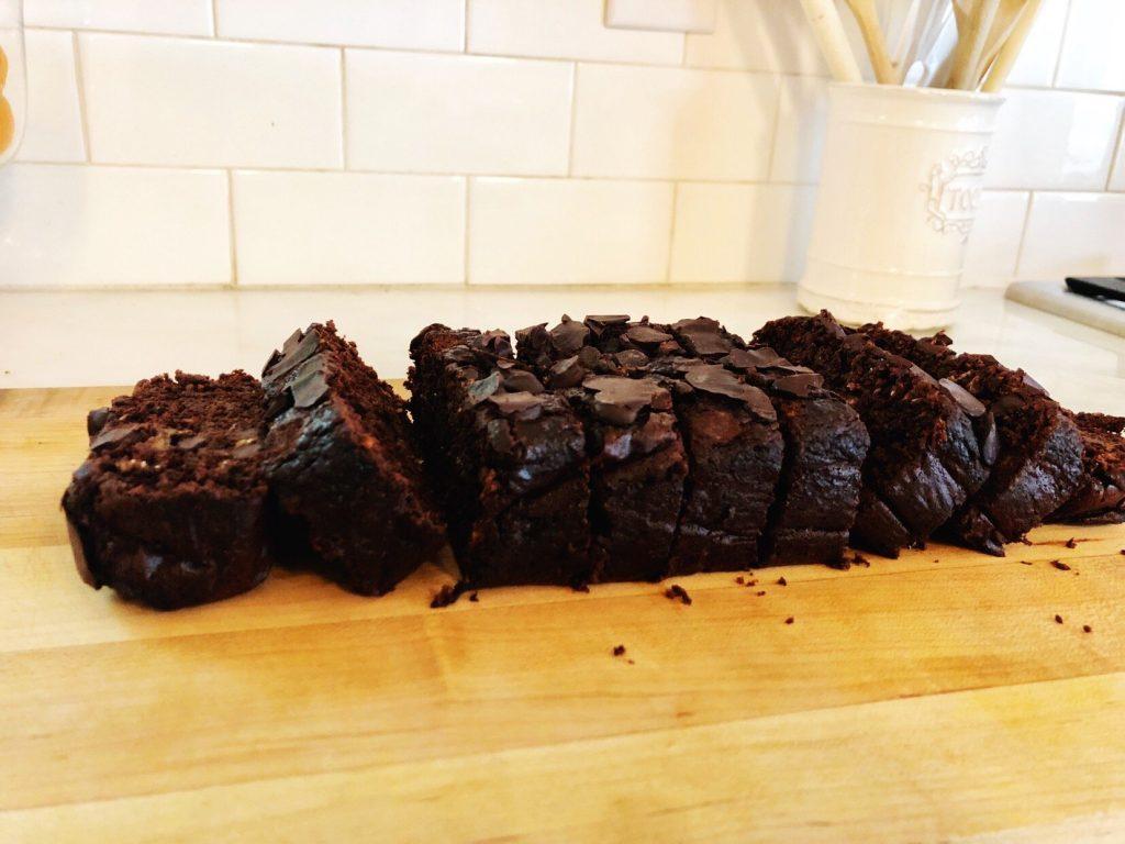 chocolate chocolate chip banana bread cake